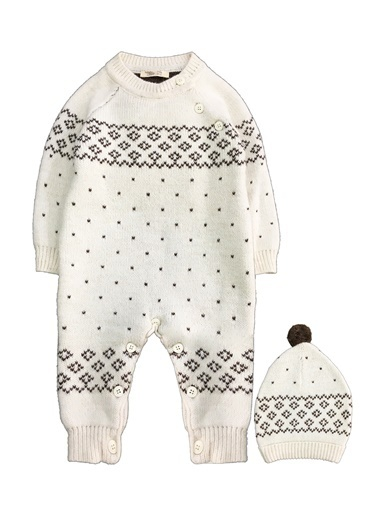 By Leyal For Kids  İçi Welsoft Kürklü, Triko Tulum Ve Şapka Set-7011  (Yünlü İplikle Örülmüştür) Krem